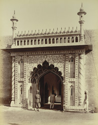 Entrance Gate, Machi Bhawan in Fort, [Rampur]